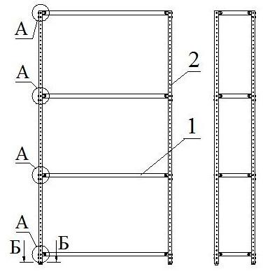 Схема сборки стеллажей для
